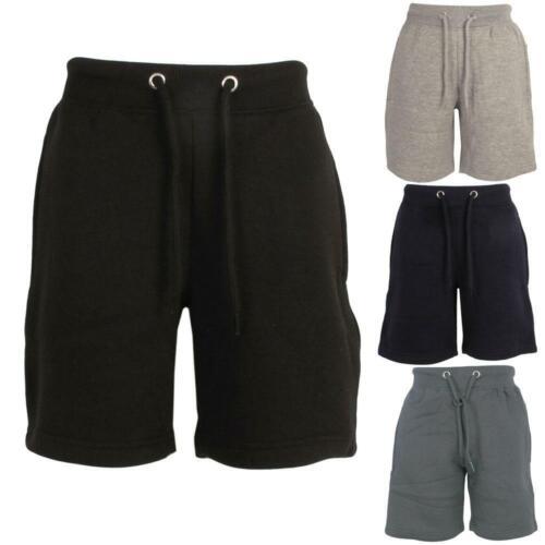 Boys Kids Childrens Sports Zipped Pockets Jogging Fitness Fleece Sweat Shorts
