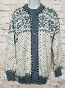 Dale-Of-Norway-Size-M-Vintage-Pure-Wool-Knitted-women-Sweater-Button-Down-29