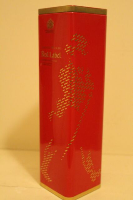 Johnnie Walker Red Label Whisky Tin Bottle Case