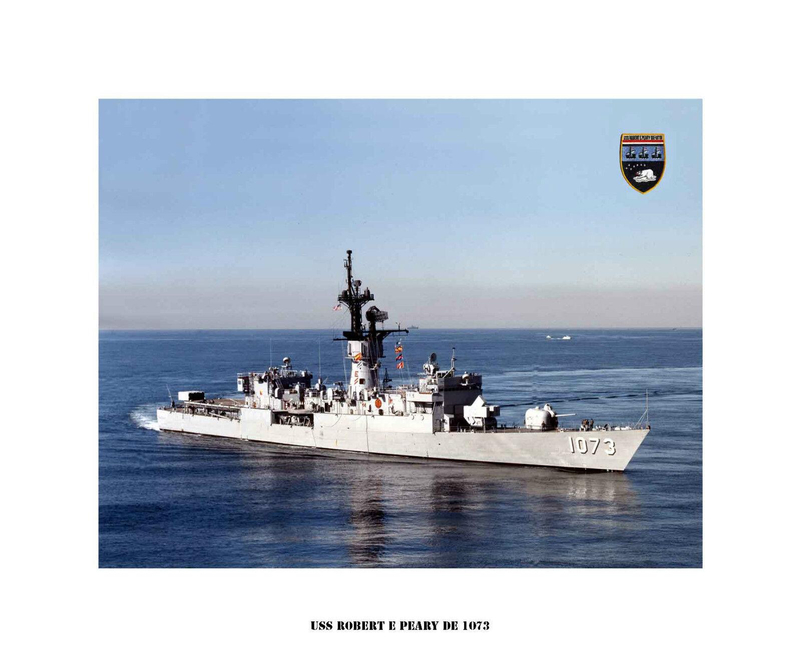 USS ROBERT E PEARY DE 1073,   Destroyer Escort, US Ship, USN Navy Photo Drucken