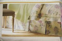 Court Of Versailles Ondine King Queen Floral Sateen Cotton Pleats Bed Skirt