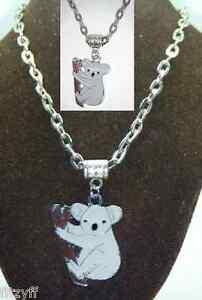 20-034-o-24-034-Pulgadas-Collar-amp-Oso-Koala-Colgante-Amuleto-Amantes-Animales-Recuerdo