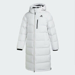 54666674cff Adidas Womens LONG BENCH DUCK DOWN JACKET WHITE CK0979 PARKA PUFFER ...