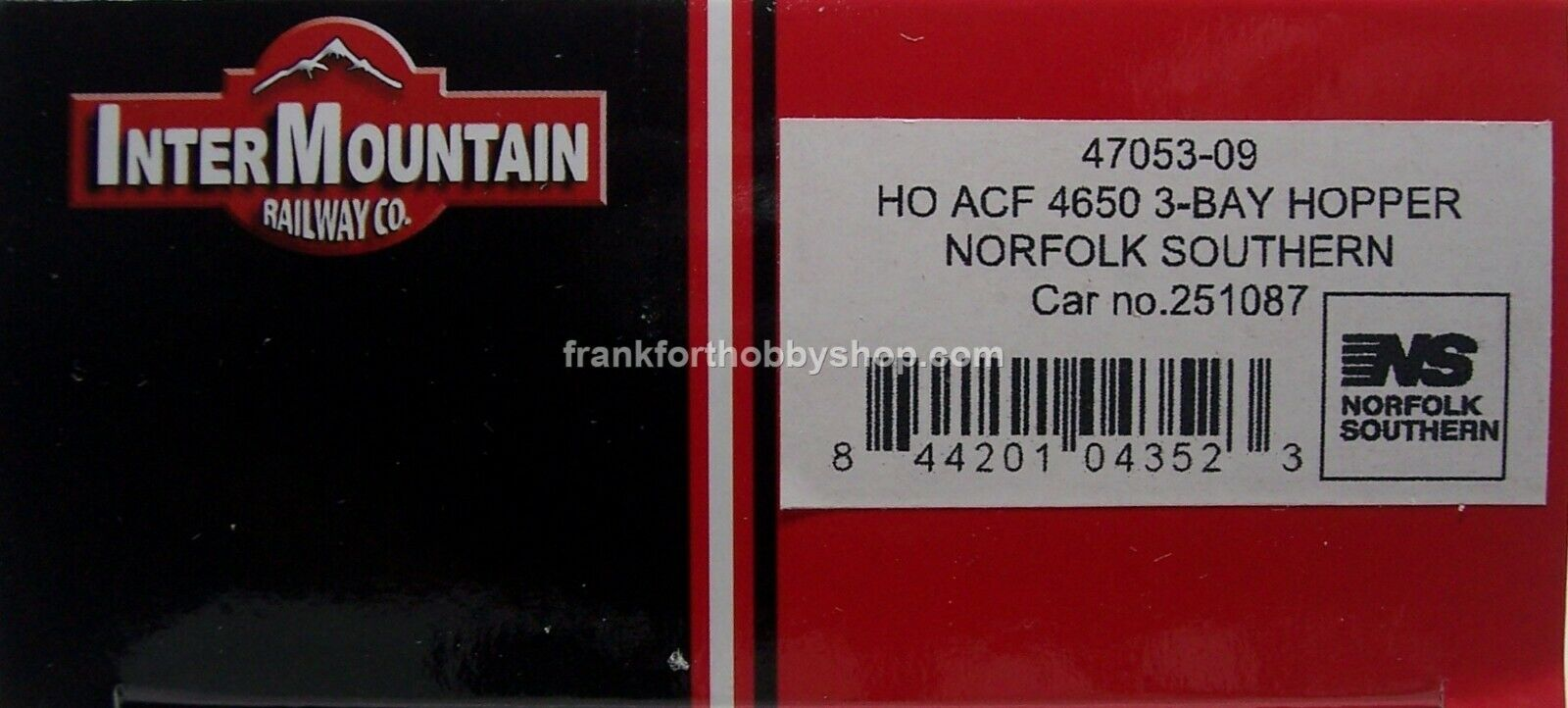 Intermountain  47053-09 HO ACF4650 CU. FT.3BAY Hopper Norfolk Southern  251087