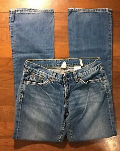 Lucky-Brand-Boot-Cut-Jeans-Size-2-26-Women-s-Low-Rise-Distressed-Denim