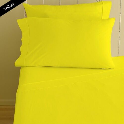 1000 TC Egyptian Cotton1PC Fitted Sheet /& 2 PC Pillow Case Extra Deep Pkt Upto30