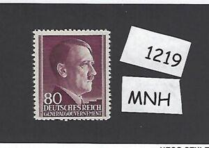#1219     MNH 1942 stamp 80 Gr / Adolph Hitler /  Occupied Poland / Third Reich