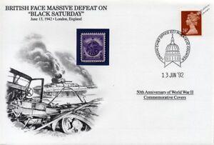 La Seconde Guerre Mondiale 1942 Samedi Noir: Afrique Du Nord Défaite Massive Stamp Cover (danbury Comme Neuf)-afficher Le Titre D'origine