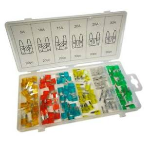 120-Standard-Blade-Auto-Car-Assorted-Fuse-Assortment-Kits-Sets-5A-30A-With-Box