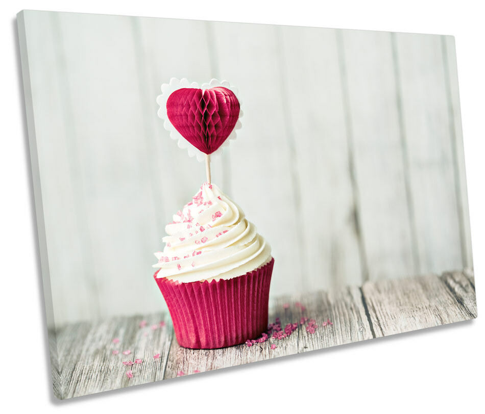 Cup Cake Kitchen Picture SINGLE CANVAS WALL ART Print