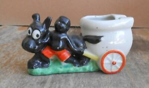Vintage Black Americana African American Tobacco Cigarette Toilet Cart Ashtray