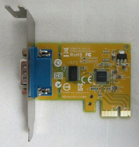 DELL Sunix RS-232 Serial Port PCI-E Interface Card 0NT0HM 039G9N LOW PROFILE