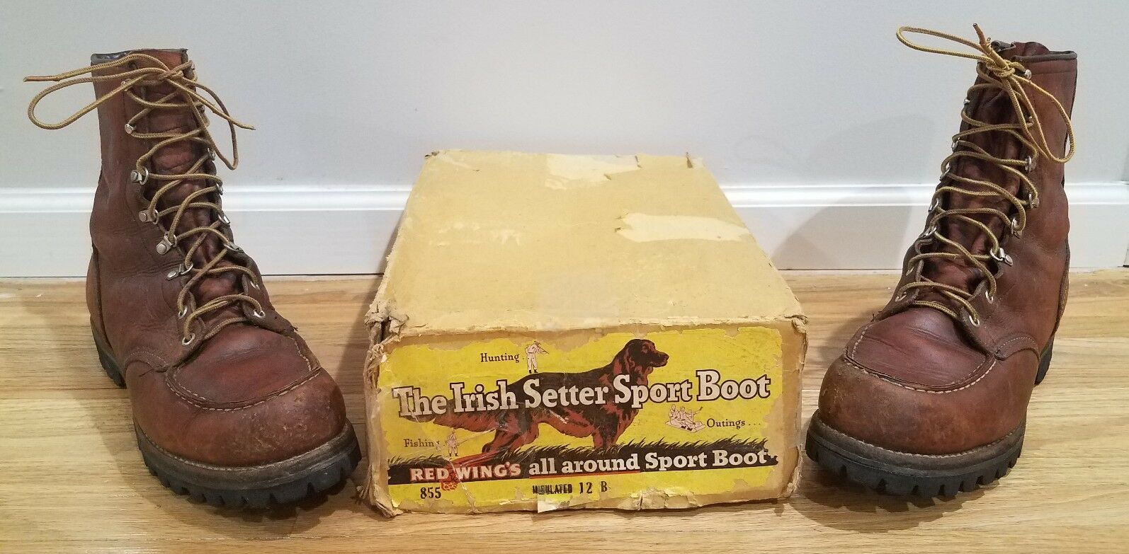 Vintage Red Wing Irish Setter   Leather Boots 17019 1970's Men's 12 B