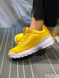 2019 YELLOW Fila Disruptor II Synthetic Low-top Athletic Fashion ... 163ea8d177b