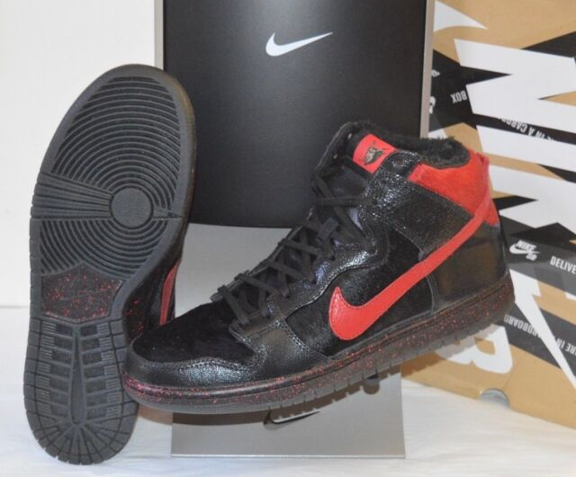 huge discount 64ad8 72b2d VNDS Krampus Nike Dunk High Pro Premium SB Black gym Red Sz 11.5 RARE W box  for sale online   eBay
