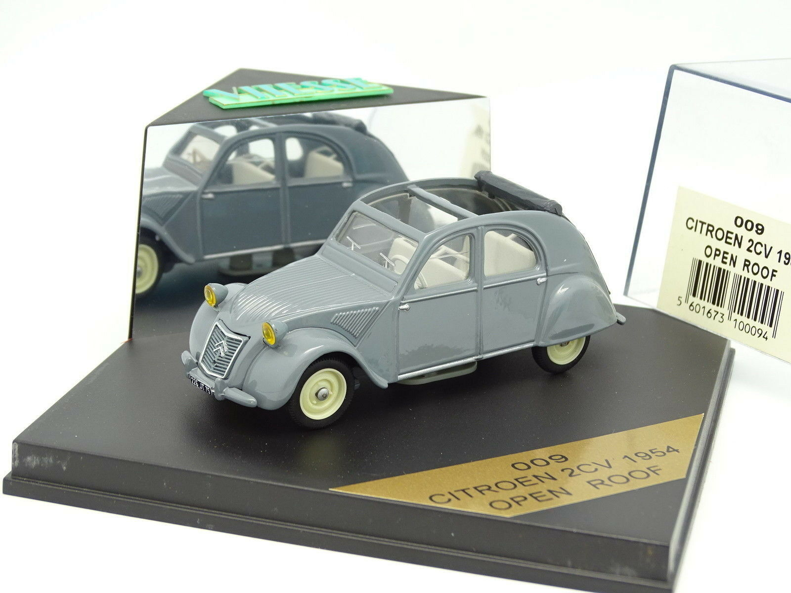 Vitesse 1 43 - Citroen 2cv 1954 grey Open Dach