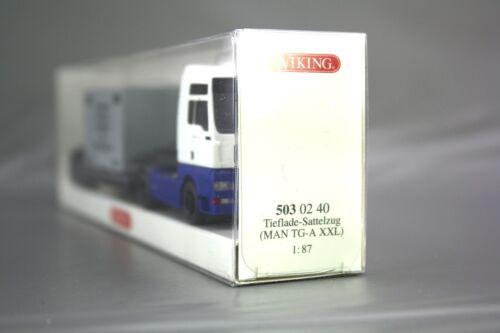 Wiking 1:87 Man tga XXL cargador profundamente con contenedor remolcarse azul 503 02 40 nos OVP