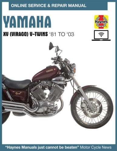 Yamaha Virago 920 Haynes Online Repair Manual