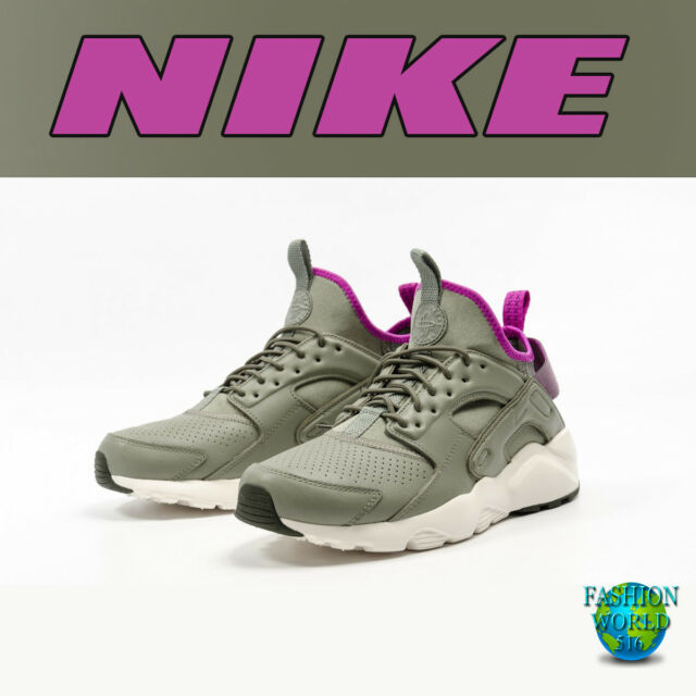 pretty nice 640a3 0fc53 NIKE MEN S SIZE 10.5 AIR HUARACHE RUN ULTRA SE 875841 003 DARK STUCCO RIVER  ROCK