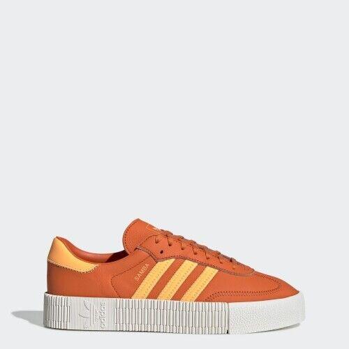 Women Adidas EE7046 Samba pink Casual shoes orange white sneakers