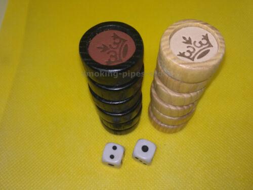 "/""Old Vintage Castle New Natural wood leather Game Board Backgammon Set 21/"" nardy"