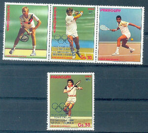 PARAGUAY-OLYMPIC-TENNIS-Mi-4070-1-Complete-Set-MNH