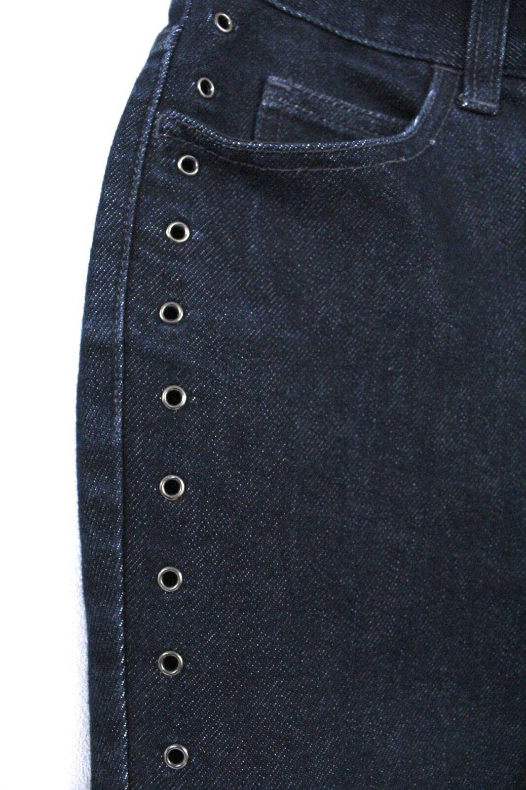 A X ARMANI EXCHANGE Womens Jeans Skinny Dark SIZE 2  28 x 31 Open Grommet Legs