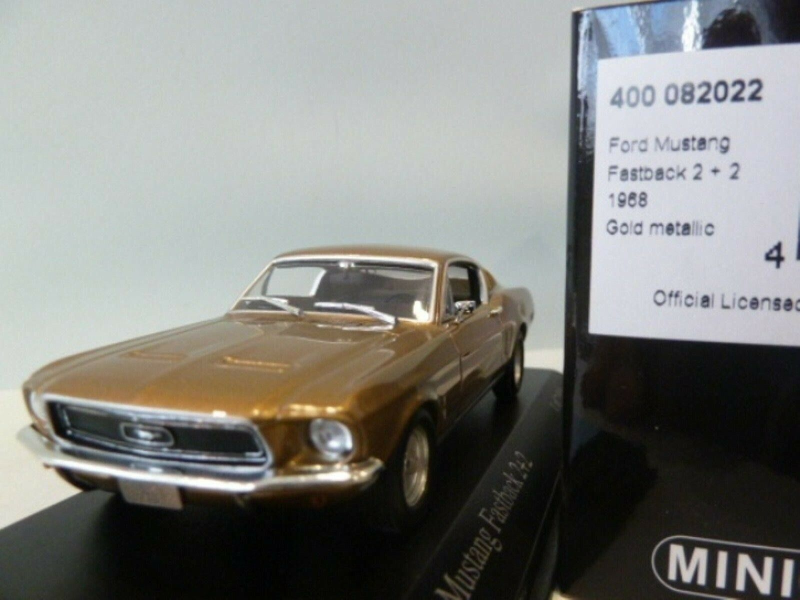 Wow extrêmement rare Ford Mustang 1968 Vintage 2+2 or 1 43 Minichamps-Mach 1 GT