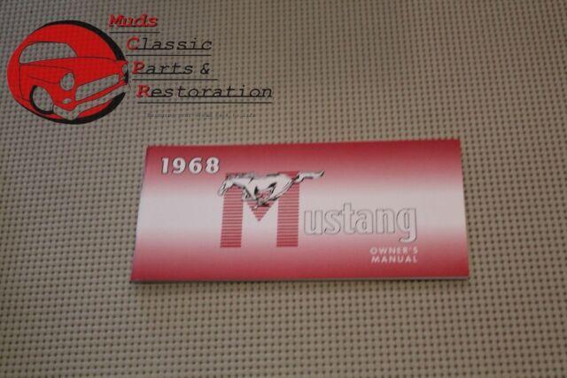 68 Mustang Owners Manual