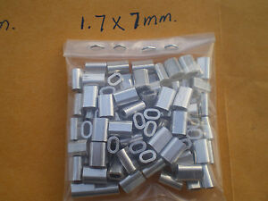 250 Wire Leader Ovale Aluminium Sertissage Manches Test 135,170 Lb 1.7x7mm (.067 Id.)-afficher Le Titre D'origine