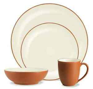 Image is loading 4-Place-NORITAKE-COLORWAVE-Coupe-Dinnerware-set-Tuscan-  sc 1 st  eBay & 4 Place NORITAKE COLORWAVE Coupe Dinnerware set Tuscan TERRA COTTA ...