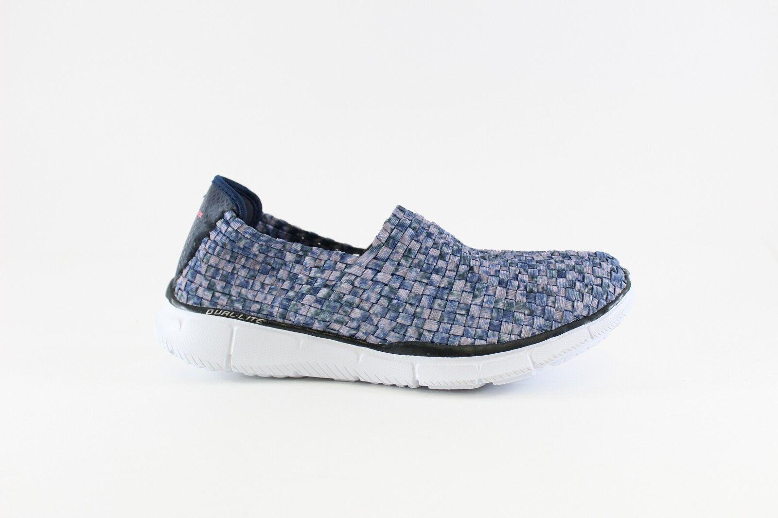 Skechers Sport Women's Vivid Dream Fashion Sneaker,Navy White,11 M US