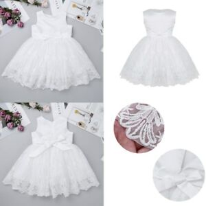 bf13faef7d45 Lace Flower Baby Girls Baptism Christening Dresses Wedding Pageant ...