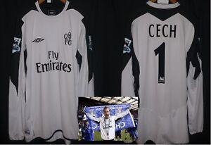 CHELSEA goalkeeper football shirt 2004 P. CECH UEFA CL Cech Republic ... 8b98558df