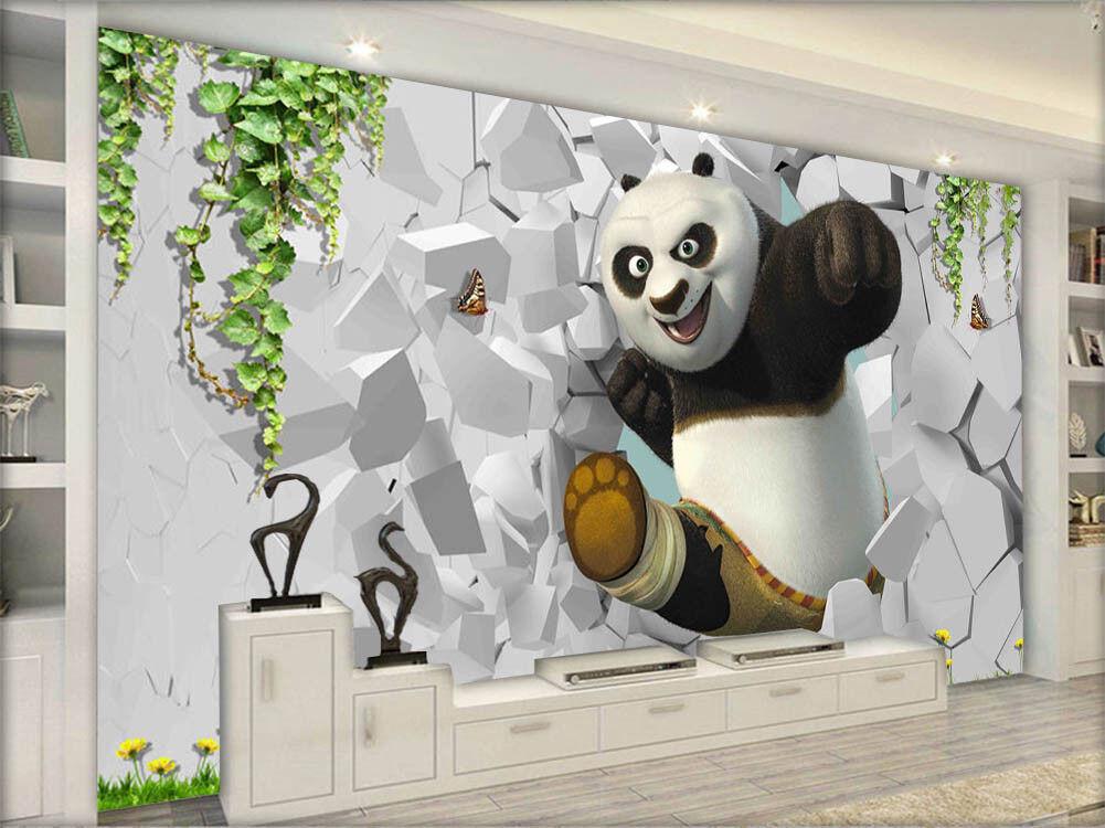 Mild Royal Panda 3D Full Wall Mural Photo Wallpaper Wallpaper Wallpaper Printing Home Kids Decor 6e4a00