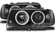 Faros Delanteros con 2 Ojos de Angel VW Volkswagen Polo (6N) Negro