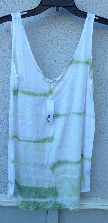 NWT LA Made Brand Green White Tie Dye Super Soft Tank Size XS