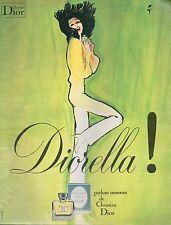 ▬► PUBLICITE ADVERTISING AD PARFUM PERFUME DIOR DIORELLA René GRUAU années 70