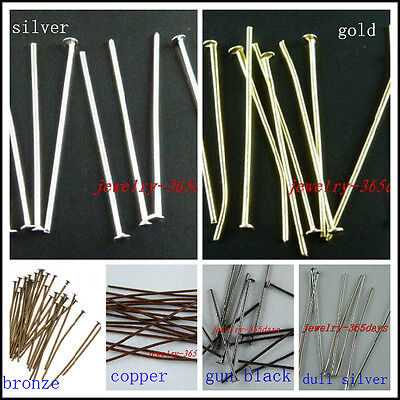Purposeful 200 Gold/silver/copper/bronze Etc Eye Pins & Head Pins Head Pins & Needles 20-80mm H59-h97