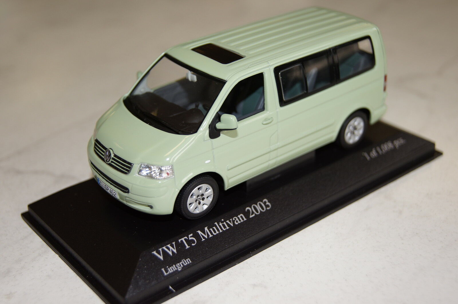 Vw t5 Multivan 2003 vert 1 43 MINICHAMPS NEUF & OVP 400052201