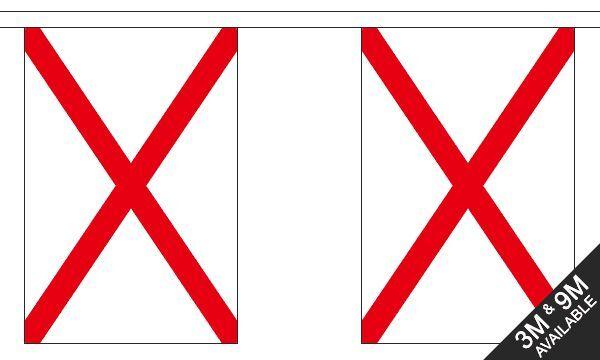 St Patricks Kreuz - 9 Metre Lang, 30 Flagge Fahne
