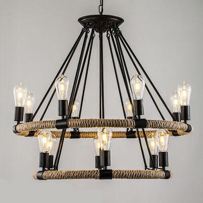 Rope Chandelier Pendant Light Restoration Hardware Lighting Lamp Ceiling  Fixture | eBay