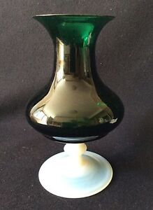 Vase-Piriformis-to-Neck-Flared-on-Ornament-Footed-Technics-Mix-Opaline-and-Glass