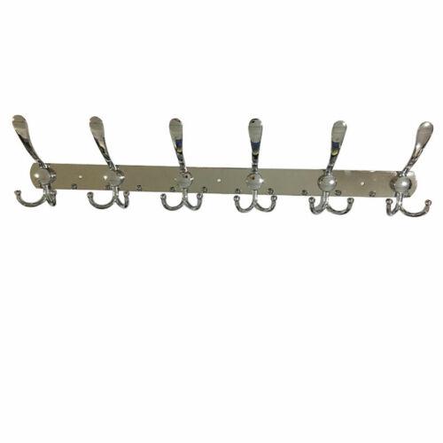 12//15 Hooks Hat Coat Clothes Door Holder Rack Stainless Steel Wall Hanger Set UK