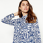 Camisa-Para-Mujer-Cebra-Animal-Print-utilidad-Camisa-ex-principios-Talla-8-20-RRP-32 miniatura 2