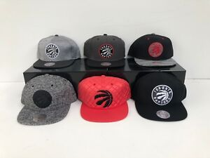 ecb4c8052325e4 Toronto Raptors Mitchell & Ness Men's NBA Adjustable Snapbacks Caps ...