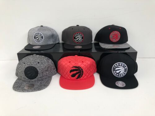 Toronto Raptors Mitchell /& Ness Men/'s NBA Adjustable Snapbacks Caps New