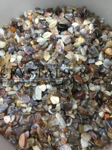7-9mm 1//2 lb bulk stones Christmas gift BOTSWANA AGATE mini tumbled