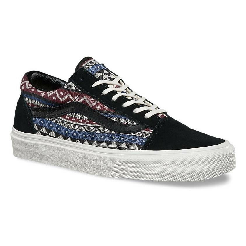 VANS Old Skool (Blanket Weave) Port Royale/Blanc de Blanc WOMEN'S Größe 8