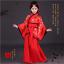 Kids Girls Han fu Princess Dress Red Dance Folk Costume Chinese Tang Silk Dress